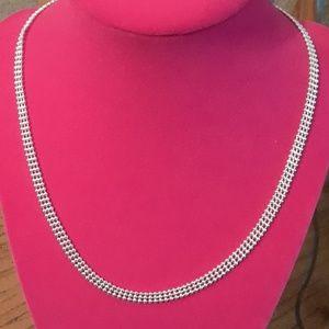 Jewelry - Sterling silver triple bead chain 18 in